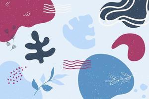 formes abstraites sur fond bleu vecteur