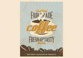 Vecteur de café certifié de libre-échange