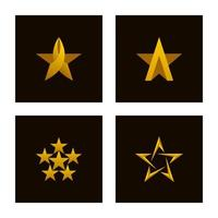 jeu d'icônes étoile de luxe vecteur