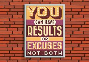 Résultats ou Excuses Vector