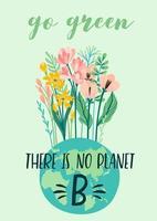 journée de la terre ou autre affiche de concept environnemental