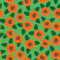 conception abstraite moderne de modèle sans couture floral folklorique