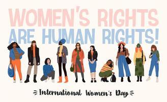 conception de la journée internationale de la femme vecteur