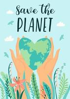 affiche du jour de la terre sauver la nature