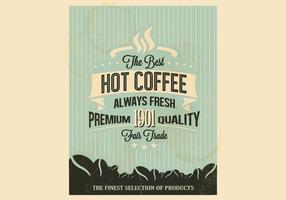Vecteur de café aux rayures