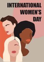 affiche de la journée internationale de la femme vecteur