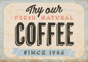 Vecteur de café frais naturel