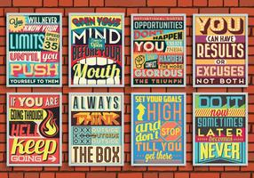 Vecteur d'affiches motivantes colorées