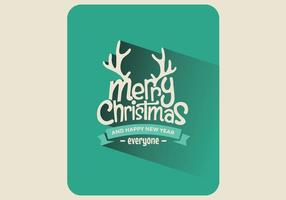 Vecteur de carte de jeu de Noël