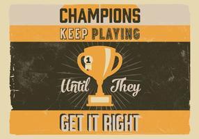 Vecteur trophée champion