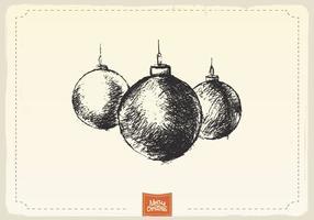 Vecteur de croquis d'ornements de Noël