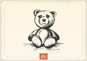 Vecteur d'esquisse d'ours en peluche