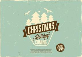 Vecteur de vacances de vacances de Noël
