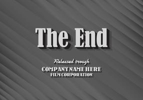 Texture du vecteur de carte de titre de fin