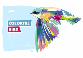 Oiseau coloré - vie animale - popart portrait vecteur