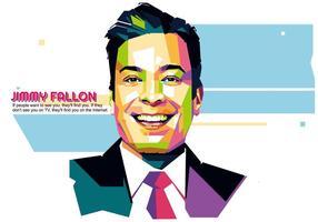 Jimmy fallon - vie de Hollywood - wpap vecteur