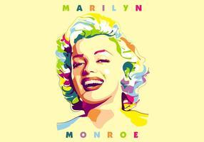 Marilyn monroe - vie de Holywood - popart portrait vecteur