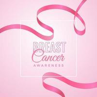 conception de sensibilisation au cancer du sein avec ruban