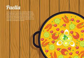 Paella top view free vector