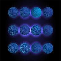 sphères de circuit imprimé binaire du monde