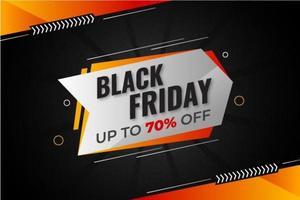 bannière de vente vendredi noir avec remise