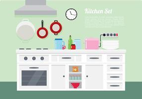Cocina set free vector