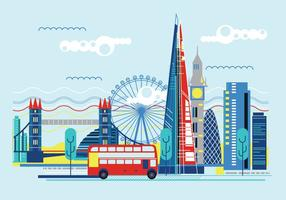 Illustration Vecteur The Shard and The London Skyline