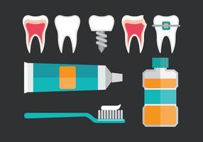 Icônes Dentista vecteur