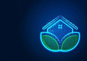 conception de maison écologique abstraite low poly