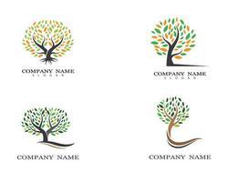 jeu de symboles d'arbre vecteur
