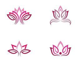 jeu de symboles de lotus vecteur