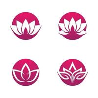 ensemble de logo de lotus de beauté