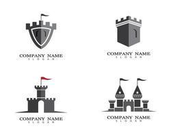 jeu de symboles de château vecteur