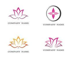 jeu d'icônes de symbole de lotus vecteur