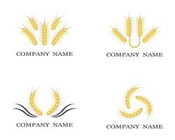 jeu de symboles de blé vecteur