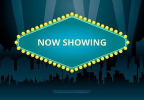 Hollywood Lights Movie Sign Template et Cityscape