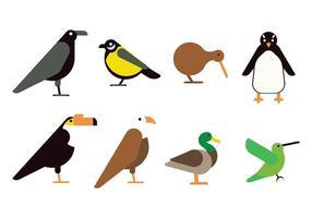 Icône d'oiseau plat