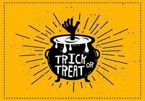 Illustration vectorielle du calfeau Trick or Treat
