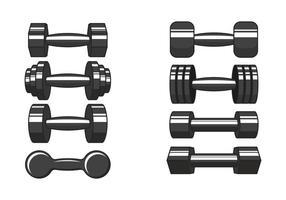 Icônes vectorielles dumbell vecteur