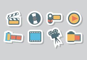 Vecteur gratuit d'icônes photo et vidéo