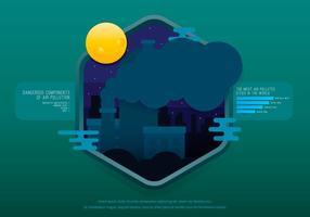 Vaisseau de décharge et de pollution atmosphérique