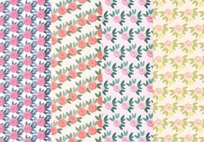 Vecteur motifs de roses colorées