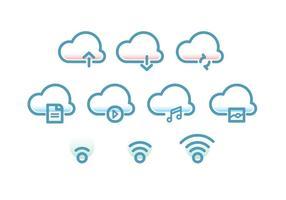 Icône de technologie Cloud vecteur