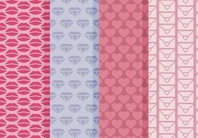 Vector Patterns simples de la Saint-Valentin