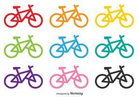Formes Vectoriales de Bicyclettes vecteur