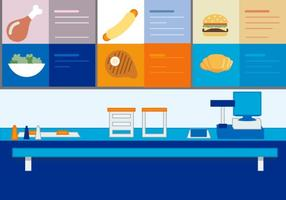 Stand de Fast Food Vector Free