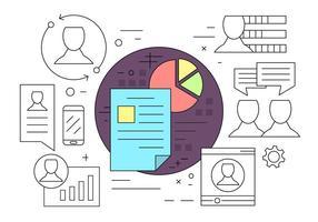 Icônes de ressources humaines et de gestion vecteur