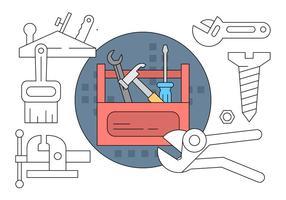 Collection gratuite avec outils vecteur