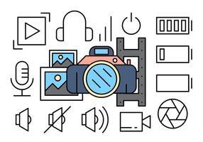 Icônes de photographie gratuites vecteur
