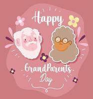 bonne fête des grands-parents, mignonne grand-mère